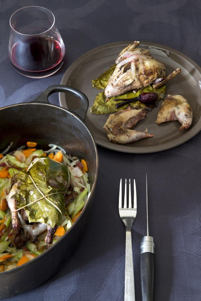 La recette du jeudi : Perdreaux en cocotte, betteraves rouges et sucrières