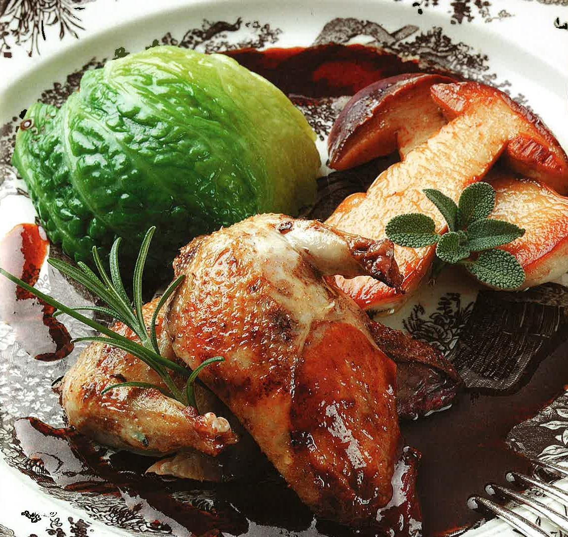 La recette du jeudi perdreaux r tis au four chou farci des cuisses et caramel d pices le - Comment cuisiner du sanglier ...