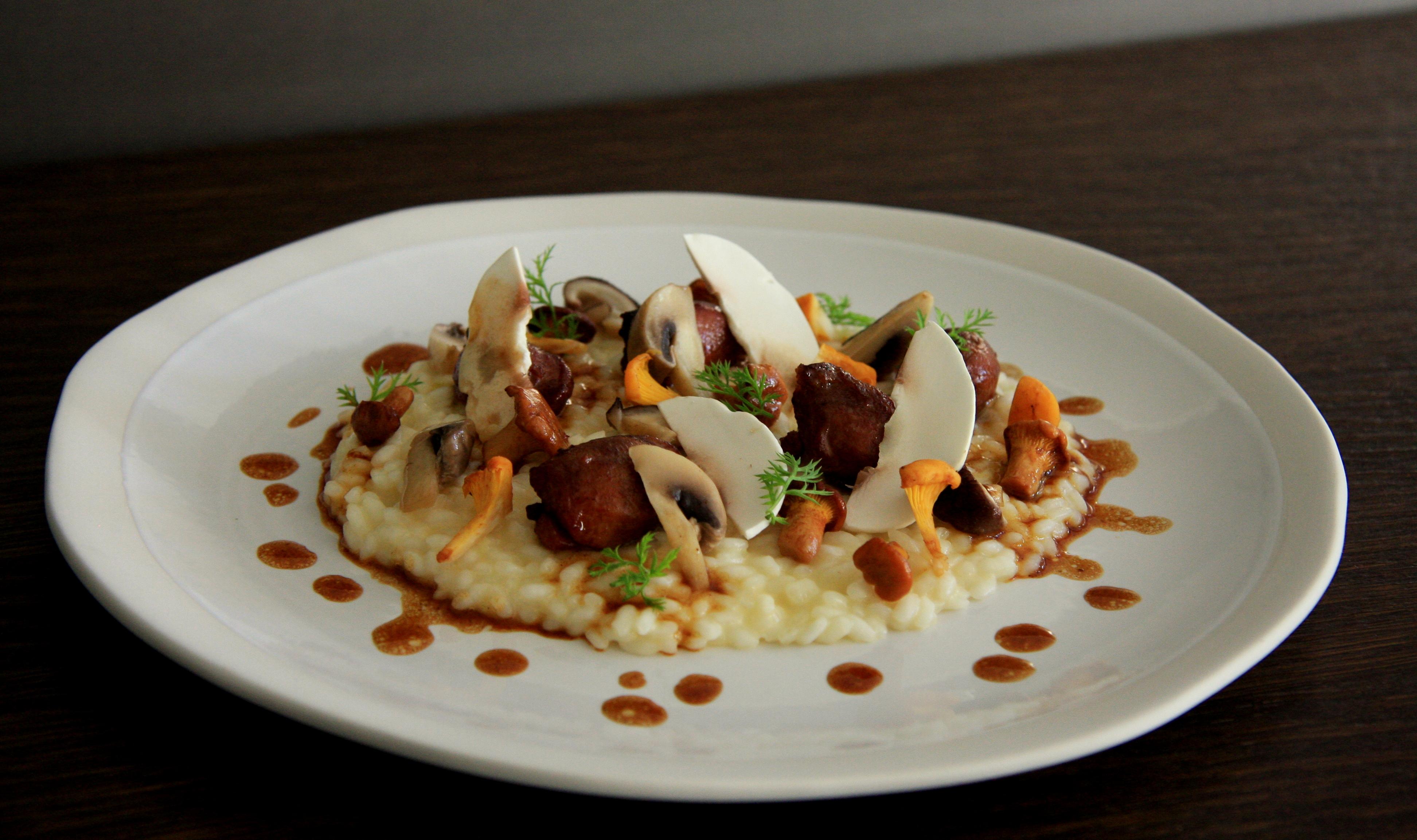 La recette du jeudi : risotto parure d'automne, sot-l'y-laisse de faisan confits et copeaux de vieux parmesan