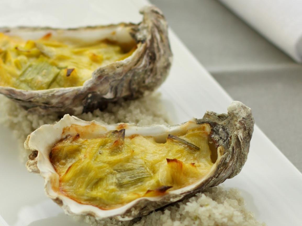La recette du jeudi : Huîtres chaudes à la fondue de poireaux et son sabayon