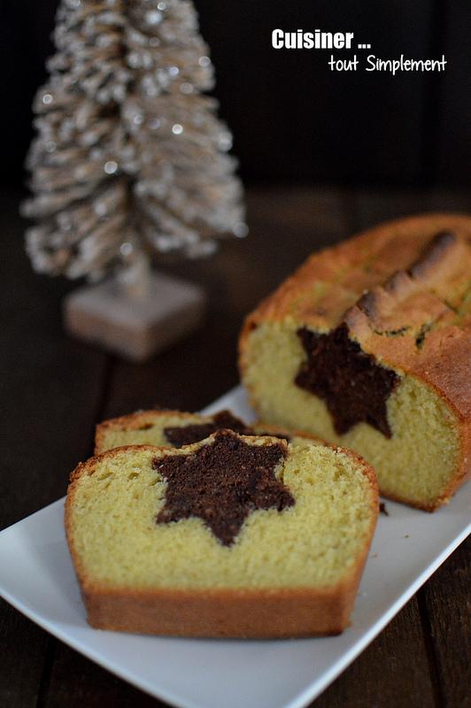 La recette du jeudi : Cake Vanille – Chocolat étoilé